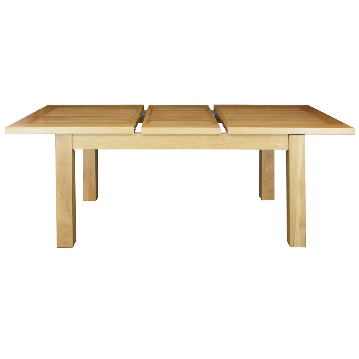 Extending dining tables dining solid oak for Solid oak dining table