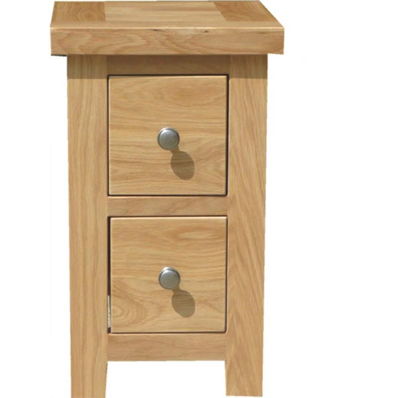 Slim 2 drawer Bedside Table