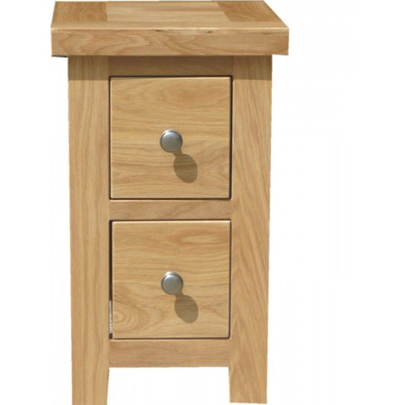 Slim 2 drawer Bedside Table