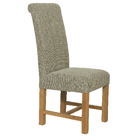 Large fabric dining chair