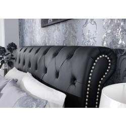 Andria faux leather bed
