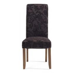 Floral fabric chair (dark leg)