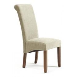 Plain fabric chair (dark leg)