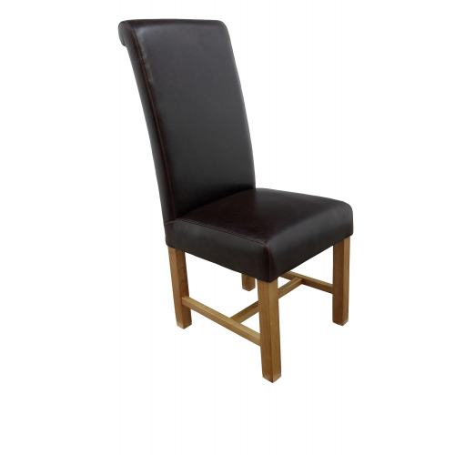 Large real leather dining chairs