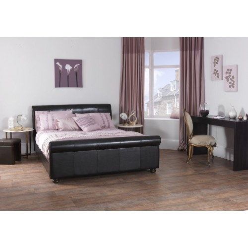 Ferrara faux leather bed