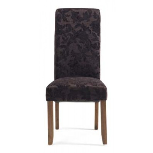 Floral fabric chair (dark leg)