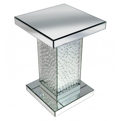 Floating crystal lamp table